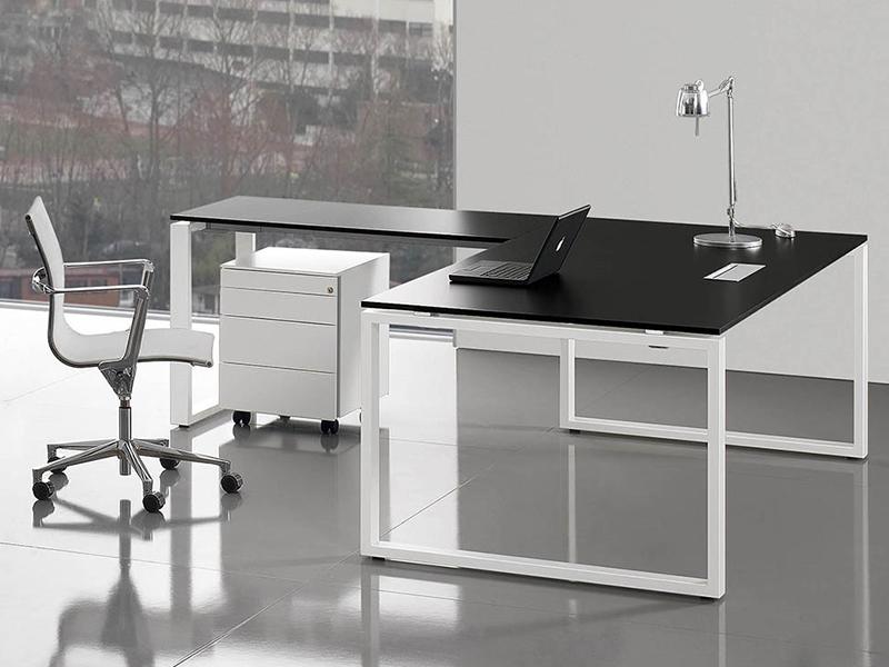Bureaux réglables en hauteur loops cristal i bureau