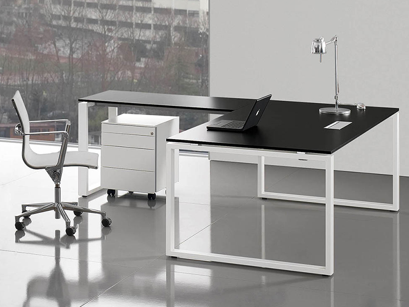 Bureaux de direction verre loops cristal i bureau