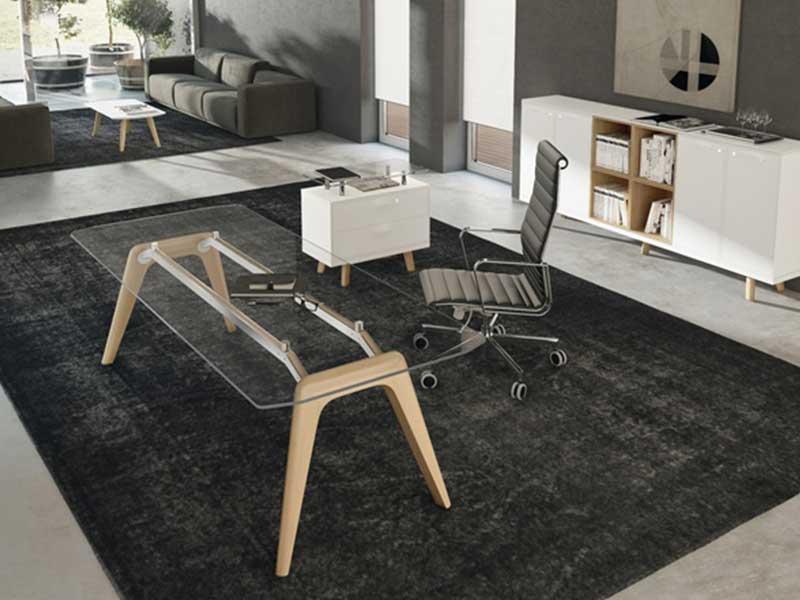 bureaux de direction verre iulio high gloss i. Black Bedroom Furniture Sets. Home Design Ideas