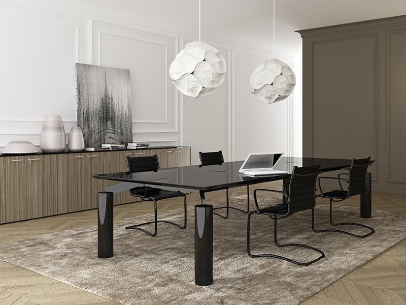 tables de reunion classic spider verre i. Black Bedroom Furniture Sets. Home Design Ideas